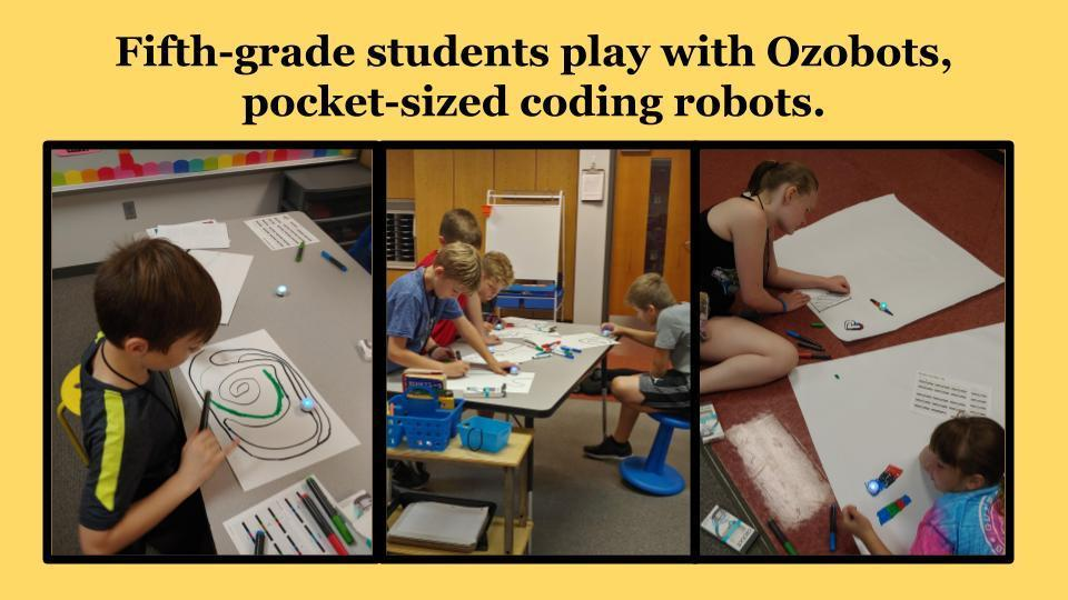 Fifth-Grade Students Program Ozobots