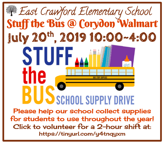 Stuff the Bus @ Corydon Walmart