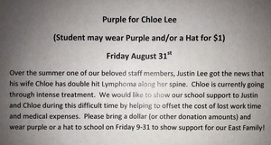 Purple for Chloe Lee