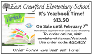Yearbook orders due February 7th