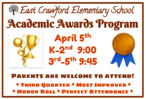 Awards Program April 5th