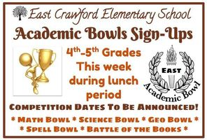 Academic Bowl Sign-Ups