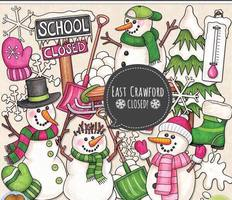 ❄️East Crawford Elementary will be closed Thursday, 11-15-18!   📅The snow make-up day will be on December 20th.