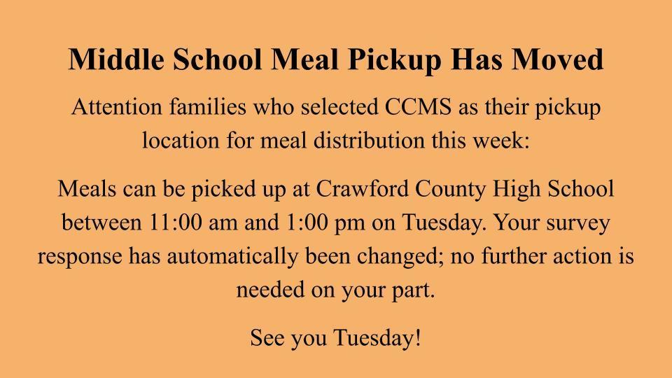 Meal Distribution Change