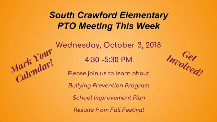 PTO Meeting Wednesday