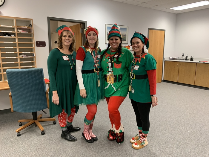 A few of the teacher elves