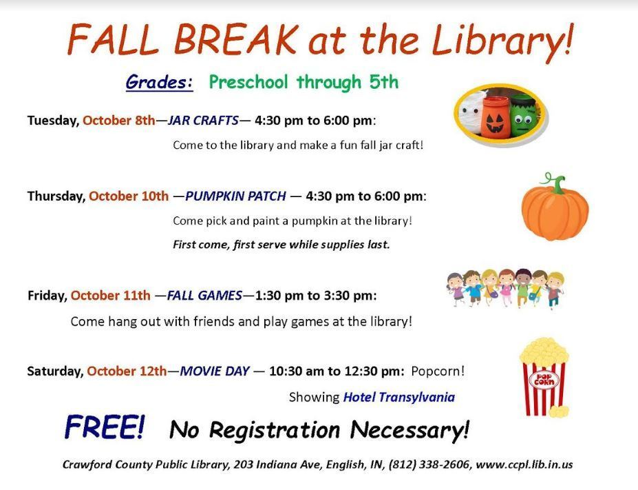 Fall Break at the Library