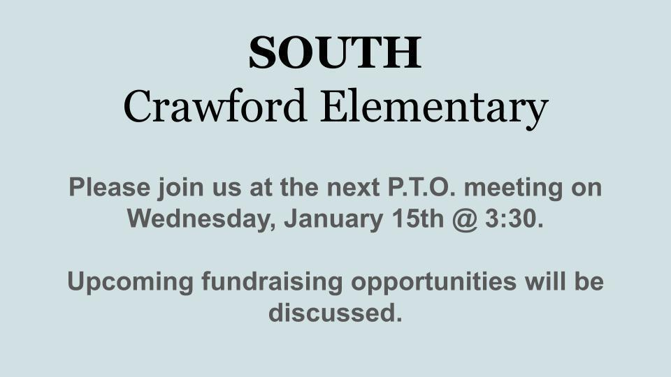 January P.T.O. Meeting