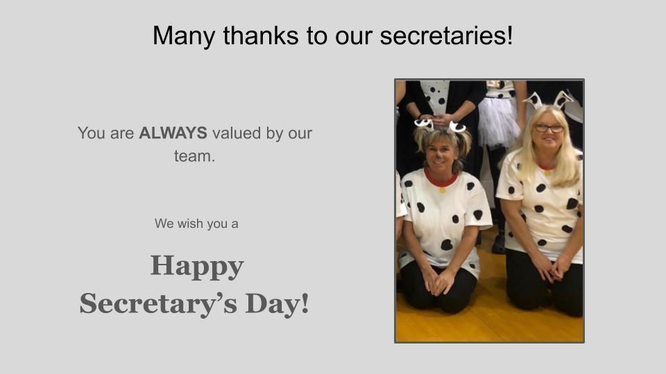 Happy Secretary's Day